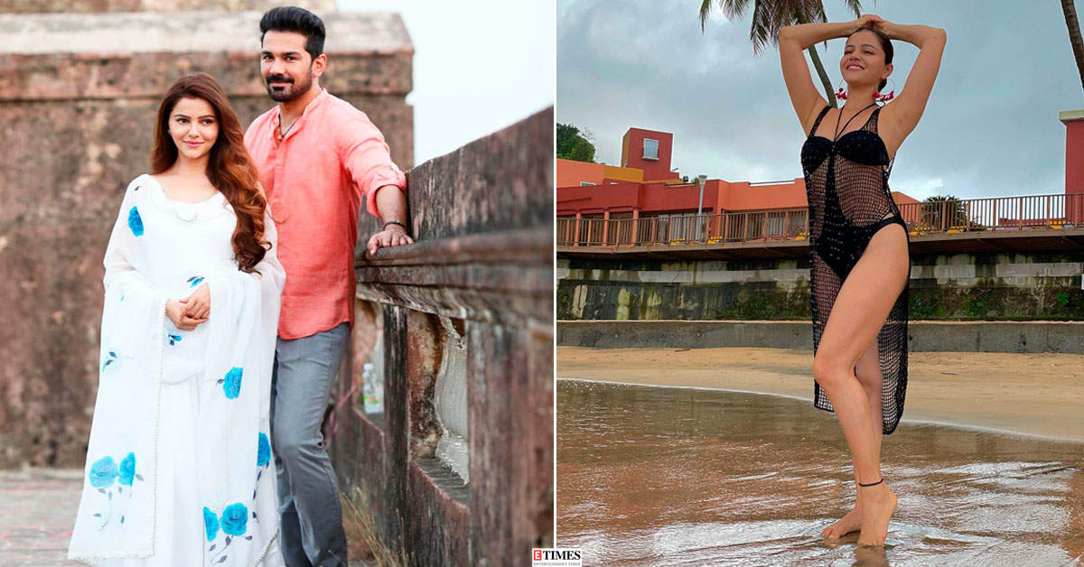 Pictures from Rubina Dilaik and hubby Abhinav Shukla's romantic beach vacation go viral