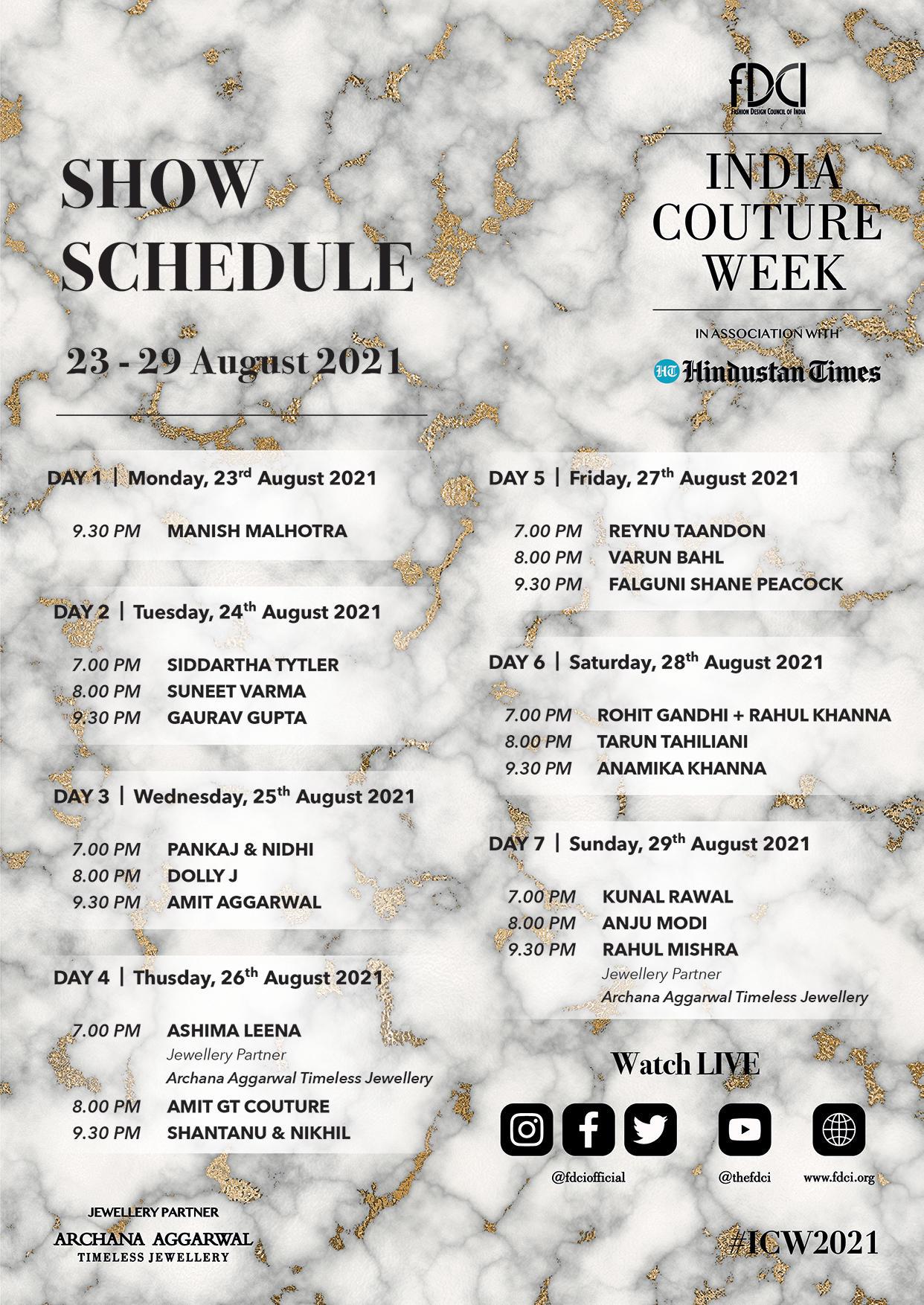 ICW 2021 _ Show Schedule