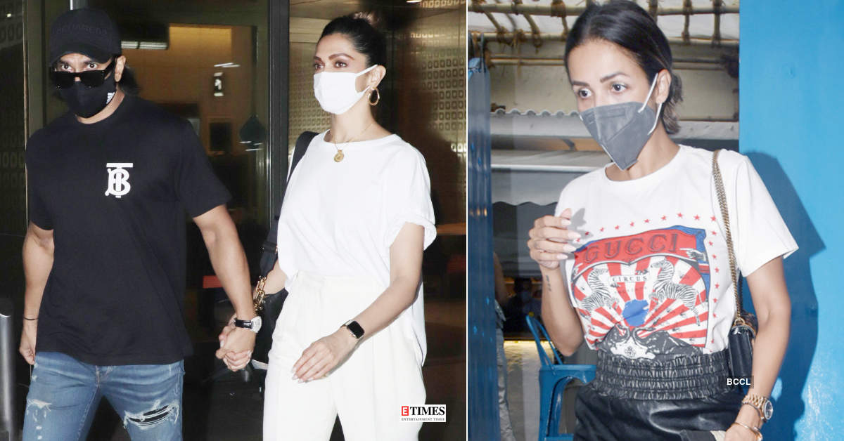 #ETimesSnapped: From Deepika Padukone to Malaika Arora, paparazzi pictures of your favourite celebs