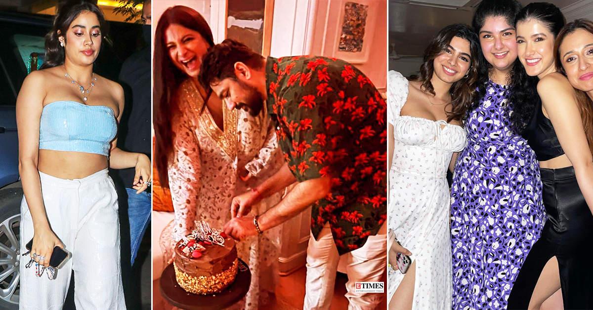 From Janhvi Kapoor's crop top to Shanaya Kapoor's slit dress, celebs turn heads at Rhea Kapoor & Karan Boolani's wedding party