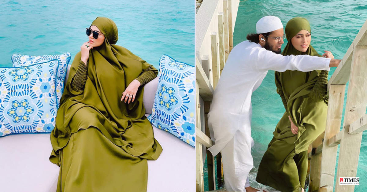 Romantic beach vacation pictures of Sana Khan with hubby Anas Saiyad go viral!