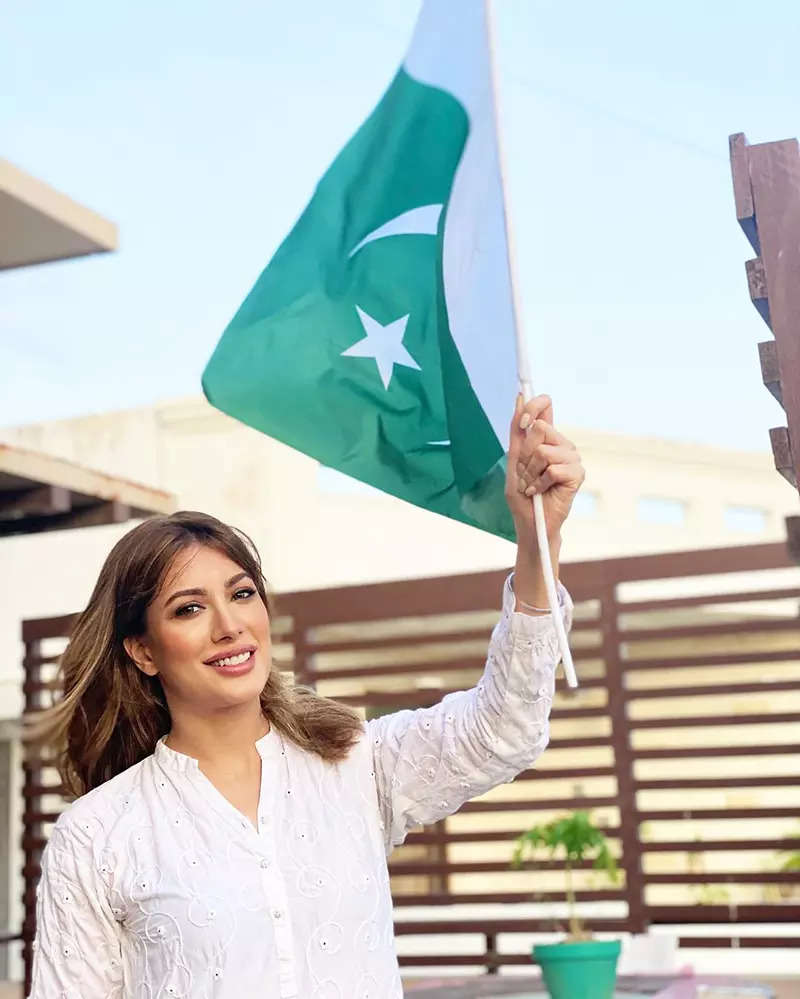Pictures of Pakistani actress Mehwish Hayat go viral after she got trolled for her inner clothing