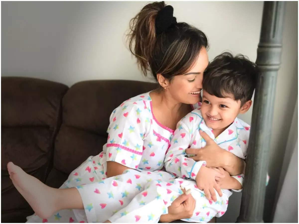 Nisha with her son, Kavish