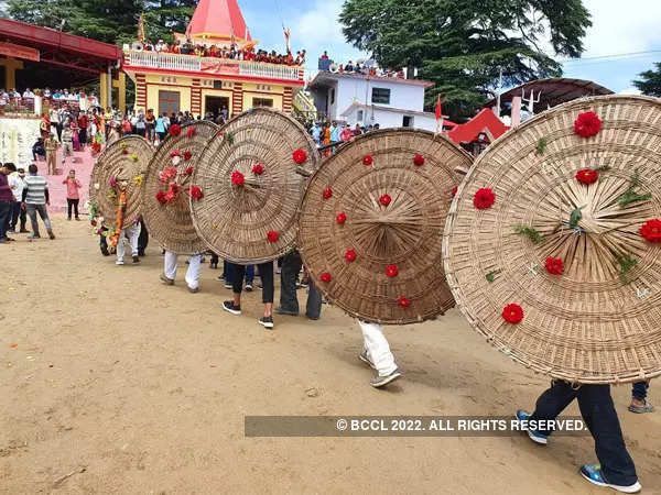 Pictures from 'stone-pelting' ritual of Uttarakhand's annual 'Bagwal' festival