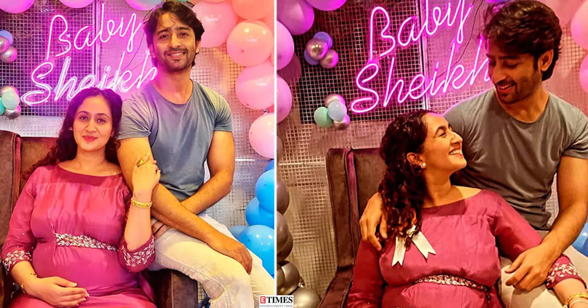 Shaheer Sheikh hosts baby shower for wife Ruchikaa Kapoor with cake and balloons