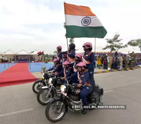 BSF's bikers perform awe-inspiring stunts
