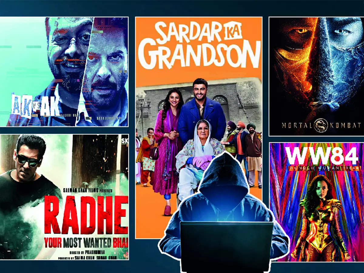 Pirated versions of Sardaar Ka Grandson, Radhe, AK vs AK, and Wonder Woman 1984 were available immediately after their digital release