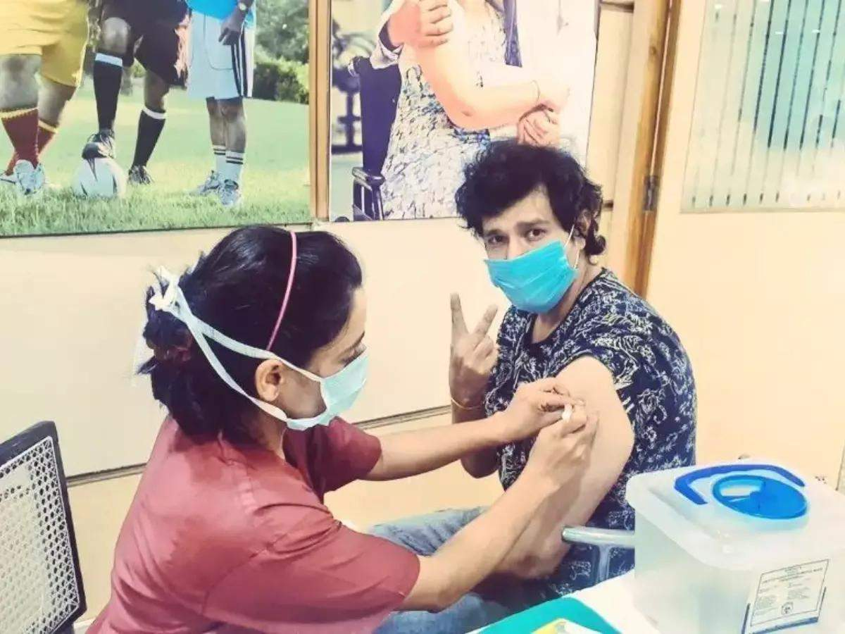 Aniruddh Dave recently got his first dose of Covid-19 vaccine