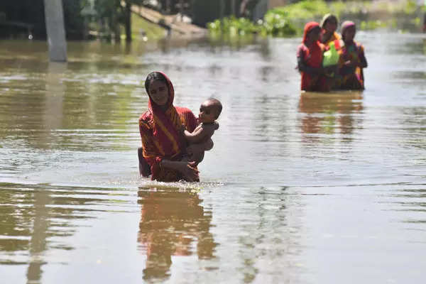 These images show flood situation worsening in Assam