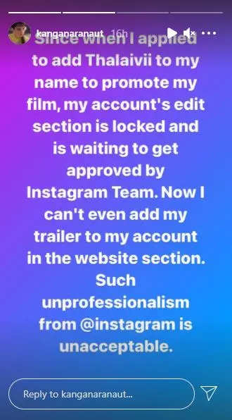 , Kangana slams Instagram for unprofessionalism, The World Live Breaking News Coverage & Updates IN ENGLISH