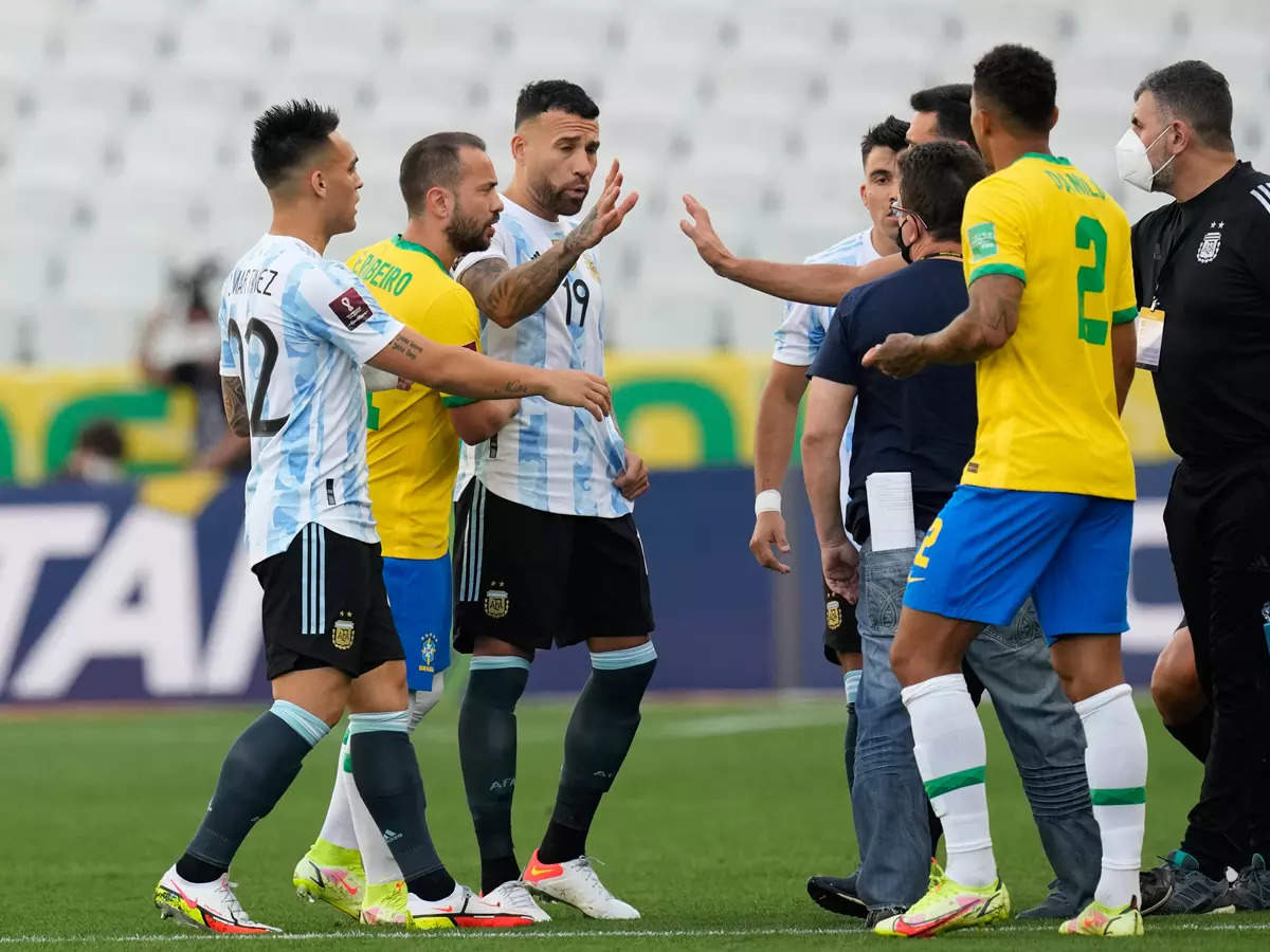 Brazil vs Argentina FIFA World Cup qualifier suspended after health  officials intervene over quarantine breach   Football News - Times of India
