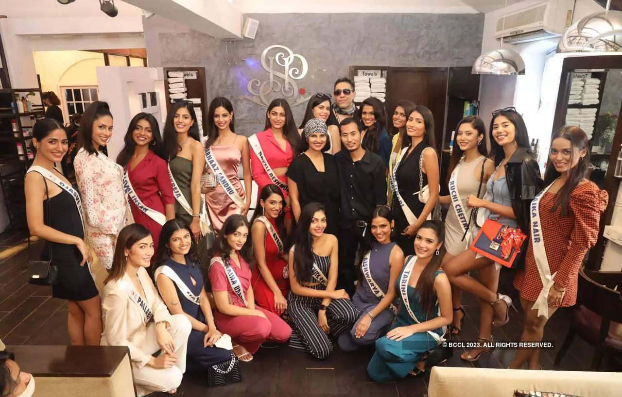 Top 20 LIVA Miss Diva 2021 finalists undergo a fabulous makeover at Savio John Pereira salon in Mumbai