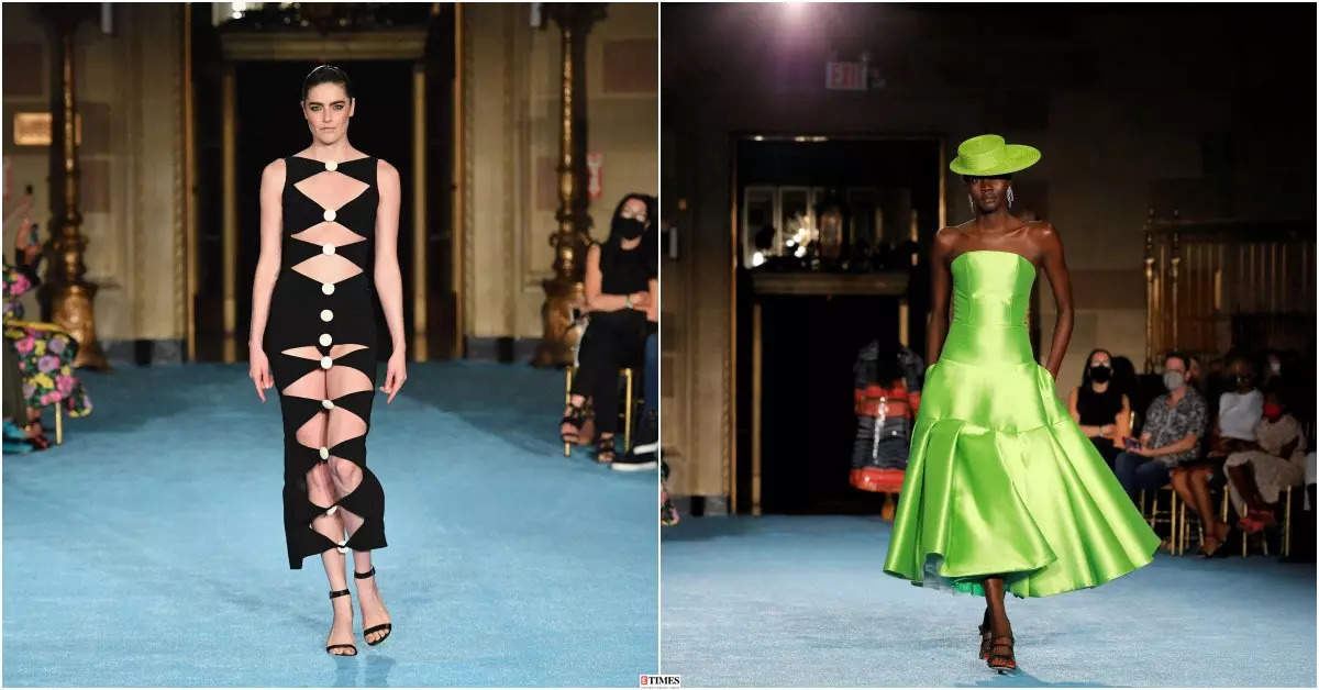 New York Fashion Week Spring/Summer 2022: Christian Siriano kicks off NYFW in bright colours and patterns, see photos