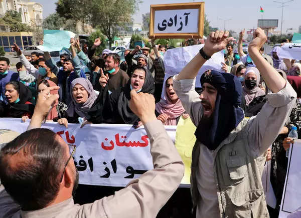 15 images from anti-Taliban protest in Kabul