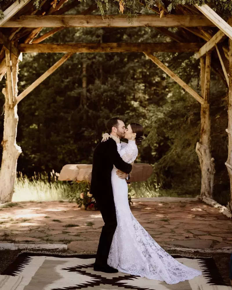 Dreamy pictures from Lily Collins and Charlie McDowell's intimate wedding