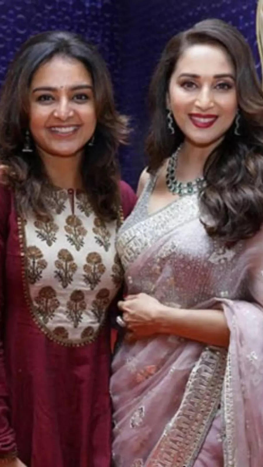With Madhuri Dixit