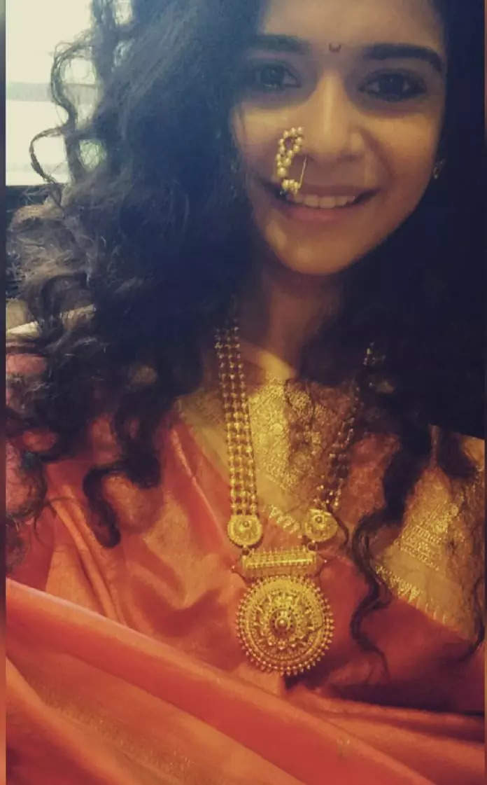 Mithila Palkar on Ganeshotsav at home