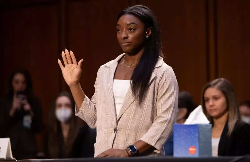 Simone Biles fights back tears as she testifies at Senate hearing on Larry Nassar abuse