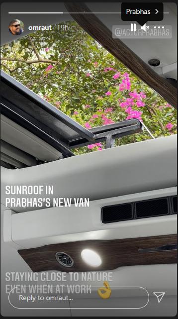 Prabhas Vanity Van