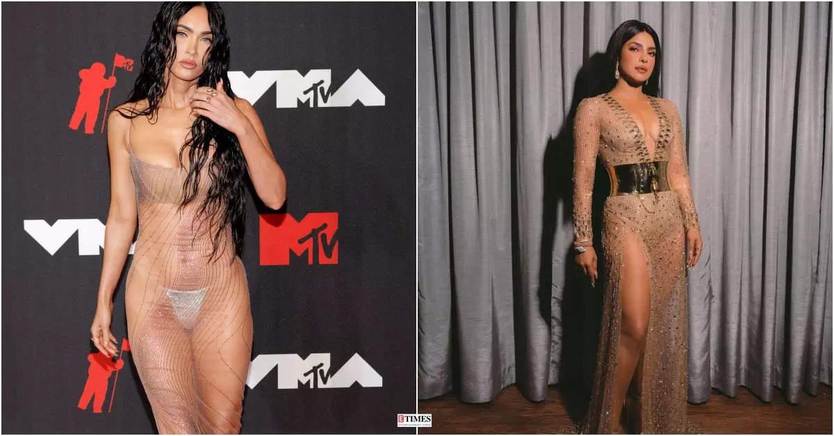From Megan Fox to Priyanka Chopra, these celebs rocked the sheer dress trend like a pro!