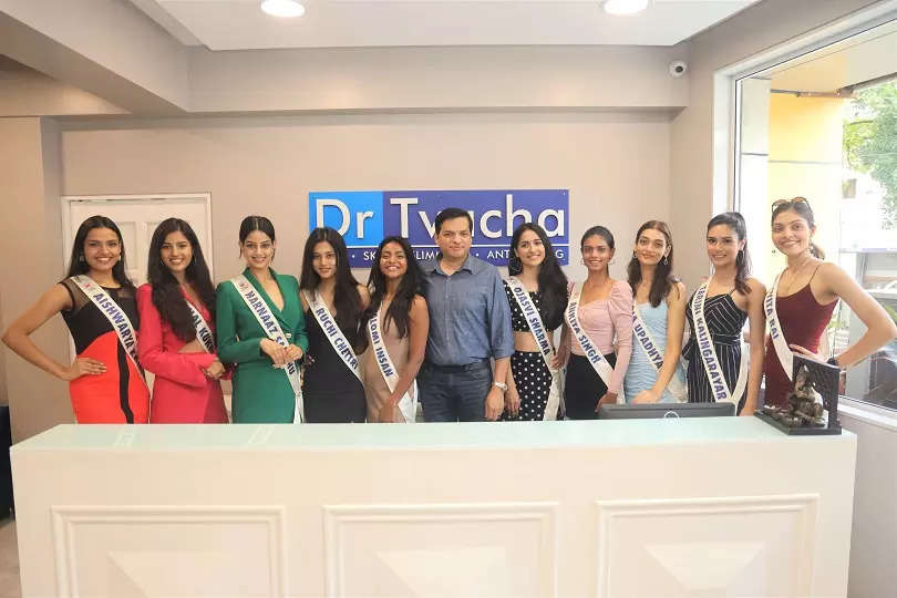 LIVA Miss Diva 2021 finalists at Dr Tvacha clinic visit