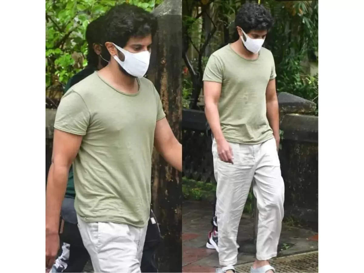 Pics: Dulquer Salmaan graces the sets of R Balki's film in cool casuals!