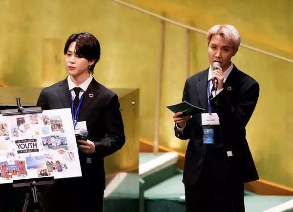 Korean pop band BTS address UN General Assembly