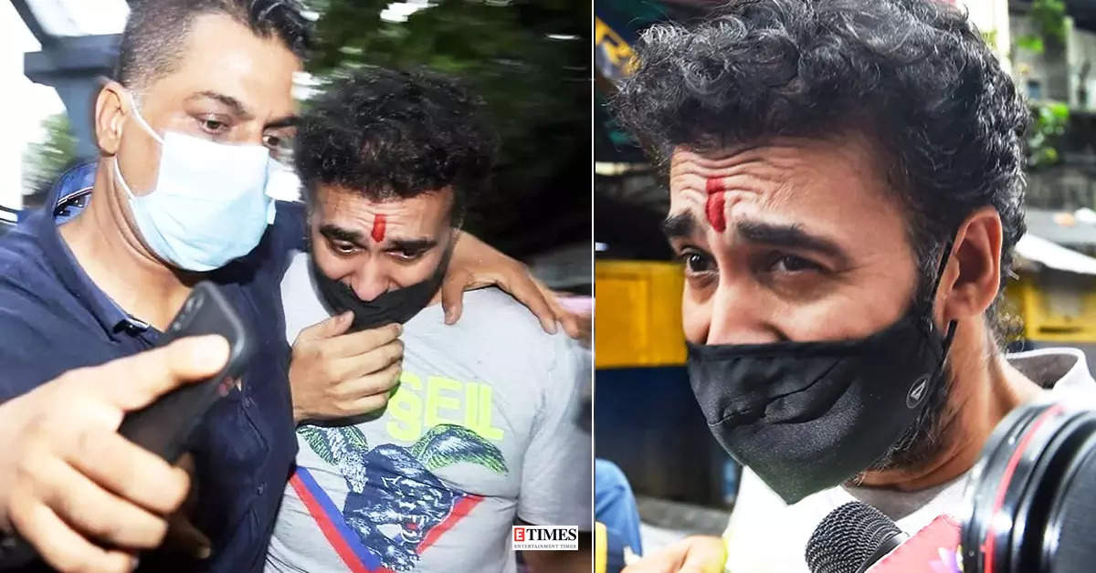 Pictures of teary-eyed Raj Kundra go viral as he walks out of jail after bail