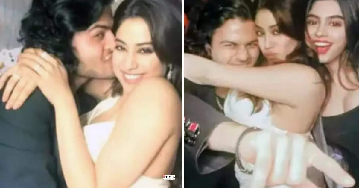 These kissing and hugging pictures of Janhvi Kapoor and rumoured ex Akshat Ranjan go viral