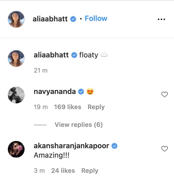 Alia's cute pics get love from Navya, Akansha