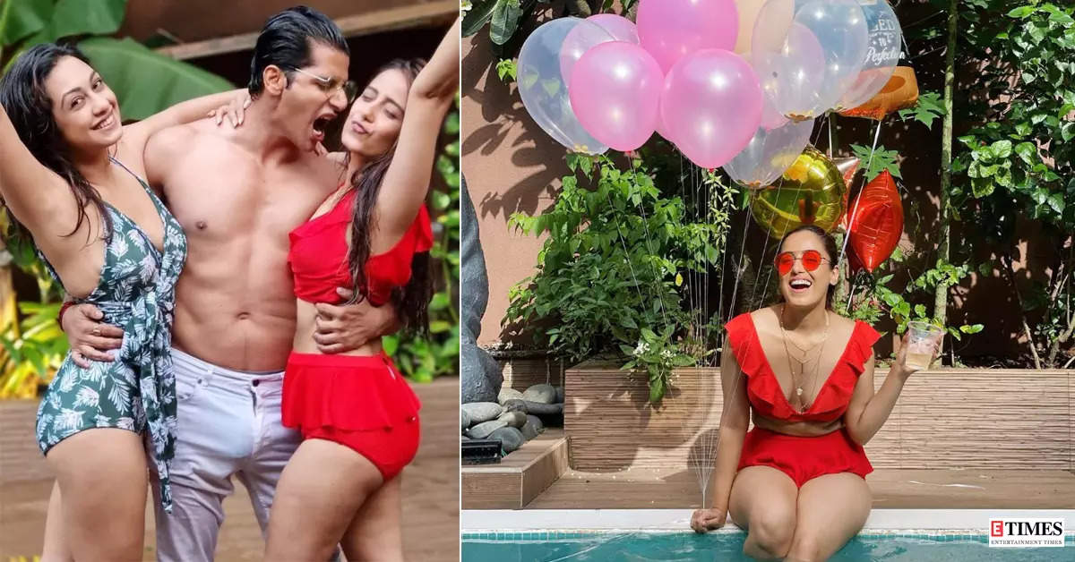 Srishty Rode's 30th birthday was all about dazzling in a red swimsuit and pool party with BFFs!