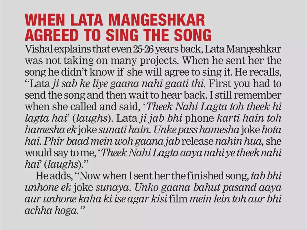 When Lata Mangeshkar agreed to sing the song