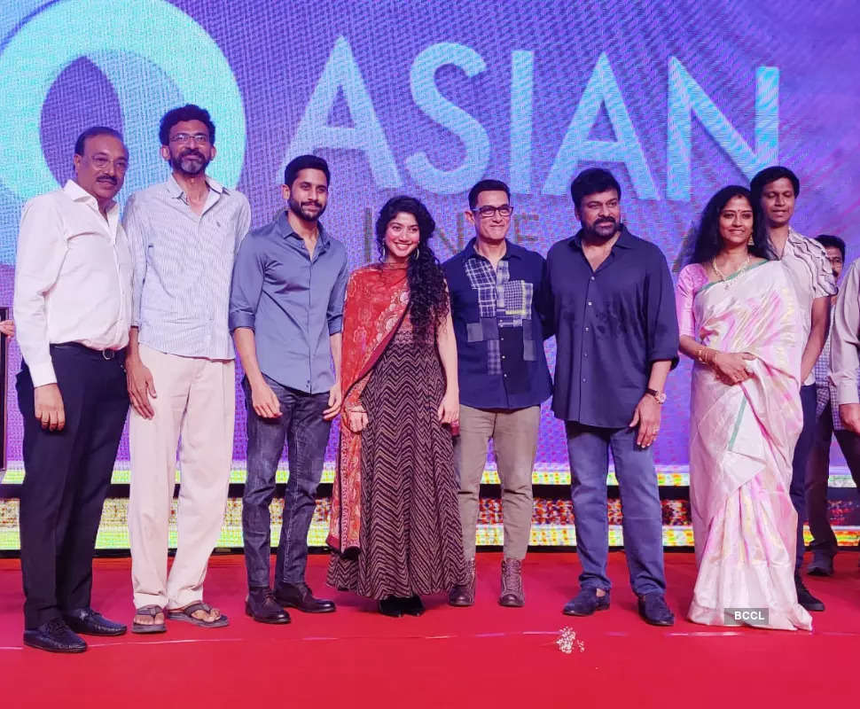 Aamir Khan attends the music event of 'Love Story'