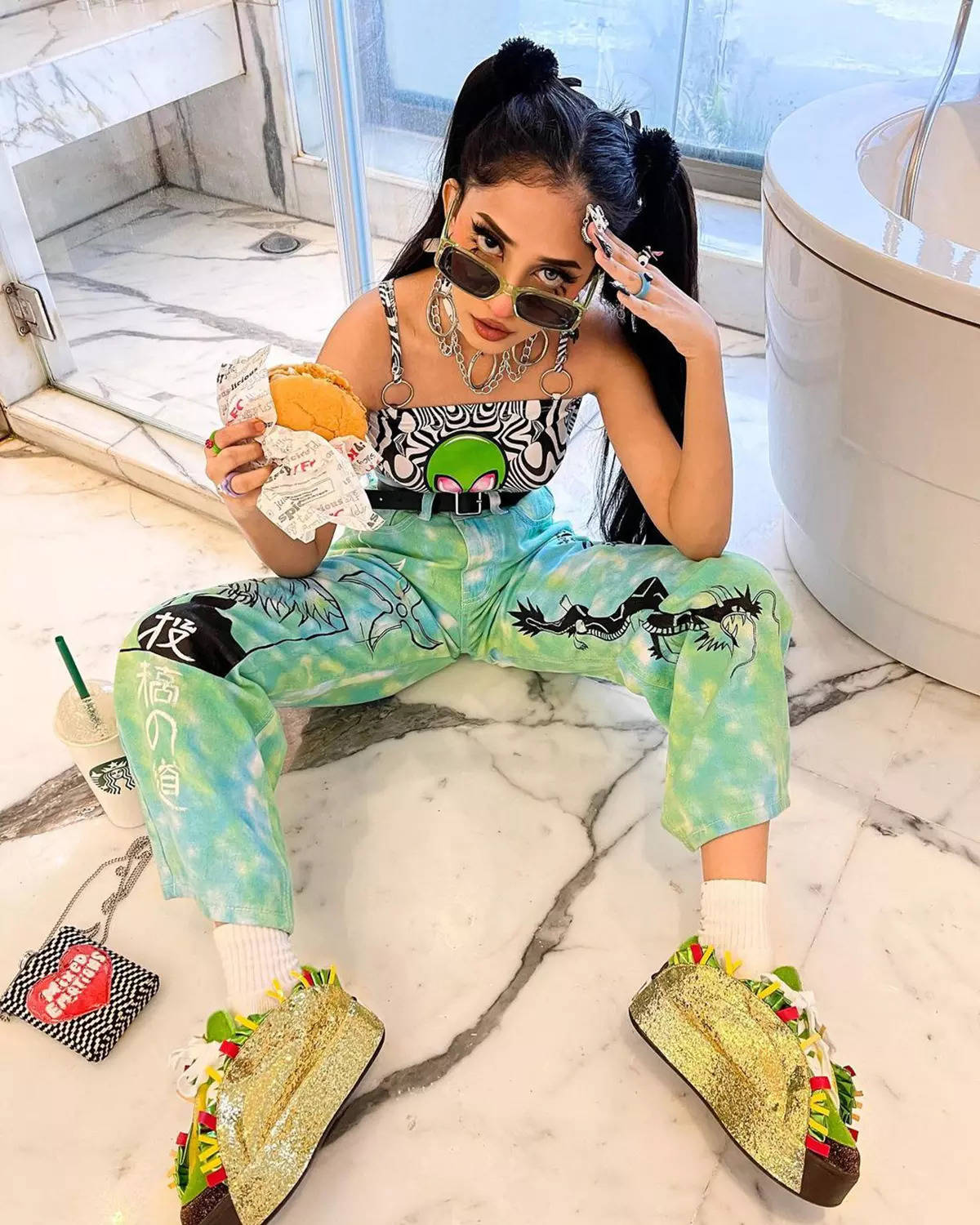 The 22-year-old Krutika is a rising star on social media for her fashionable and unique outfits