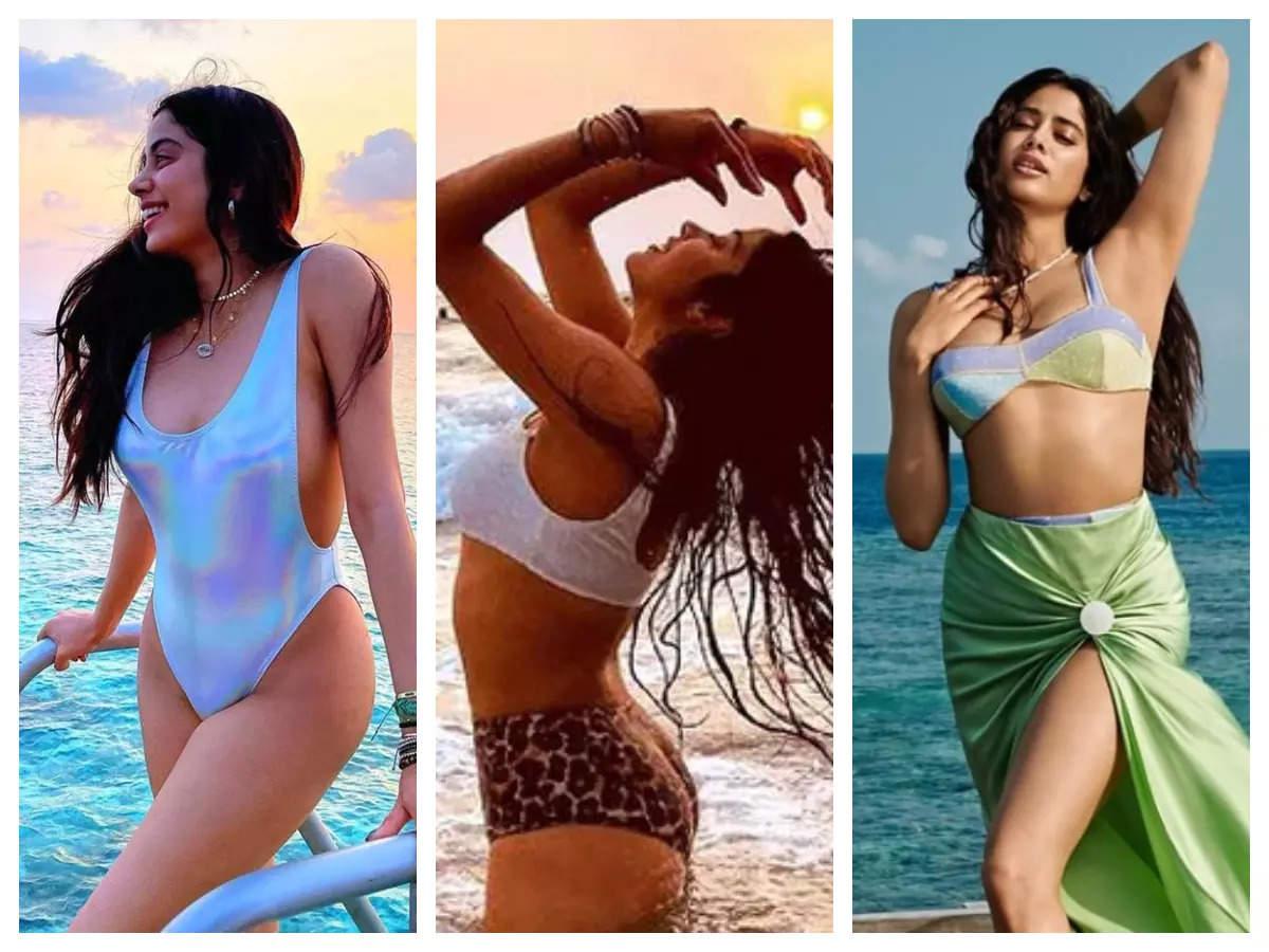 Stunning swimsuit looks of Janhvi Kapoor