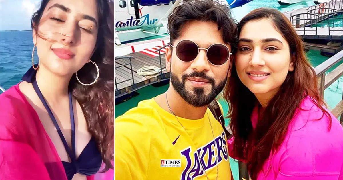 Breathtaking pictures of Disha Parmar in a stylish bralette from her honeymoon with hubby Rahul Vaidya