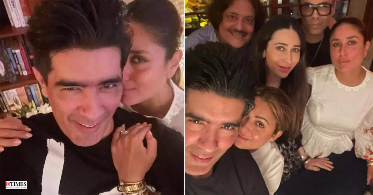 Kareena Kapoor parties hard with BFFs Karisma Kapoor, Karan Johar and Manish Malhotra