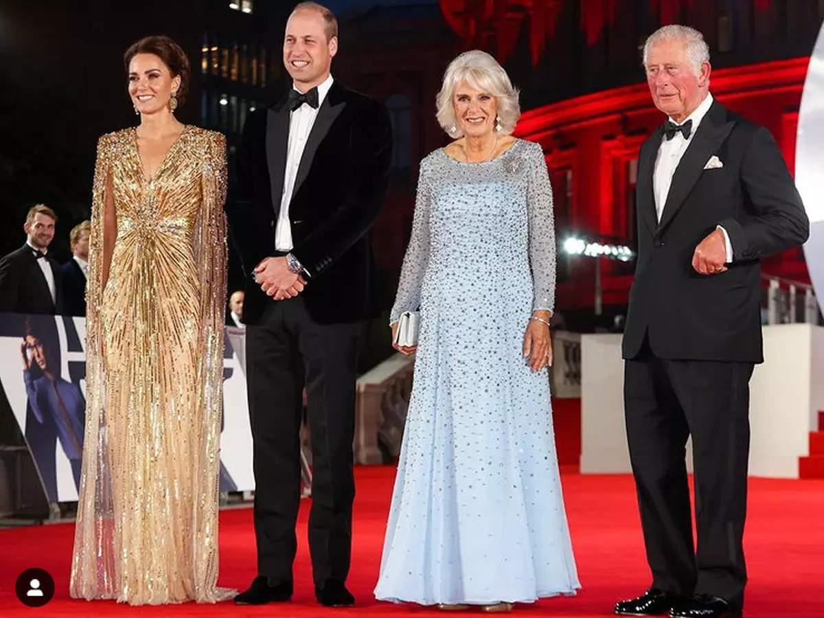 Royals join Bond cast for glitzy London premiere