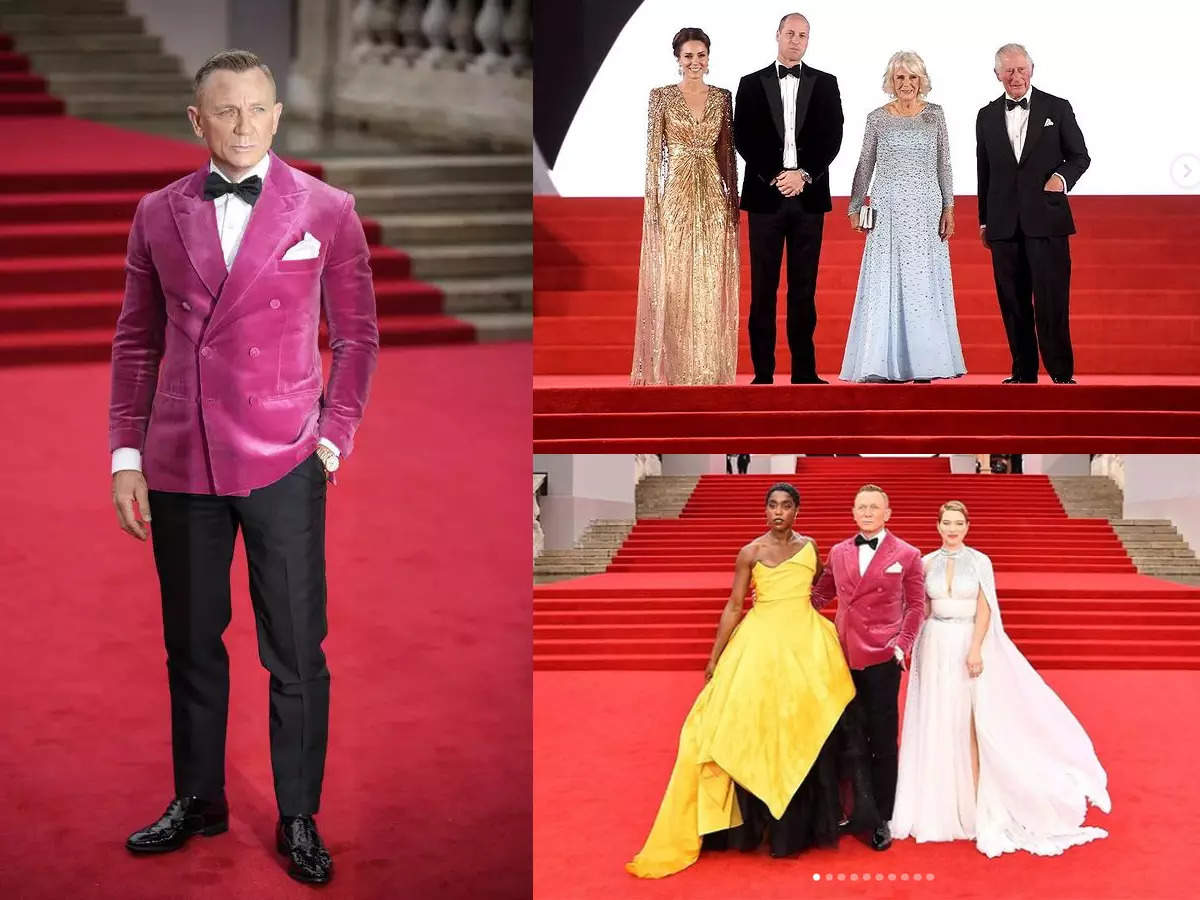 'No Time To Die' world premiere: Daniel Craig bids 007 goodbye, Kate Middleton glistens in gold and other highlights from the red carpet