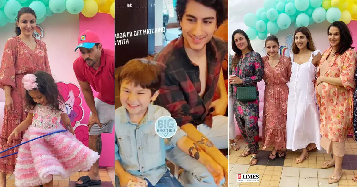 Fun-filled pictures from Soha Ali Khan's daughter Inaaya's unicorn-themed birthday party