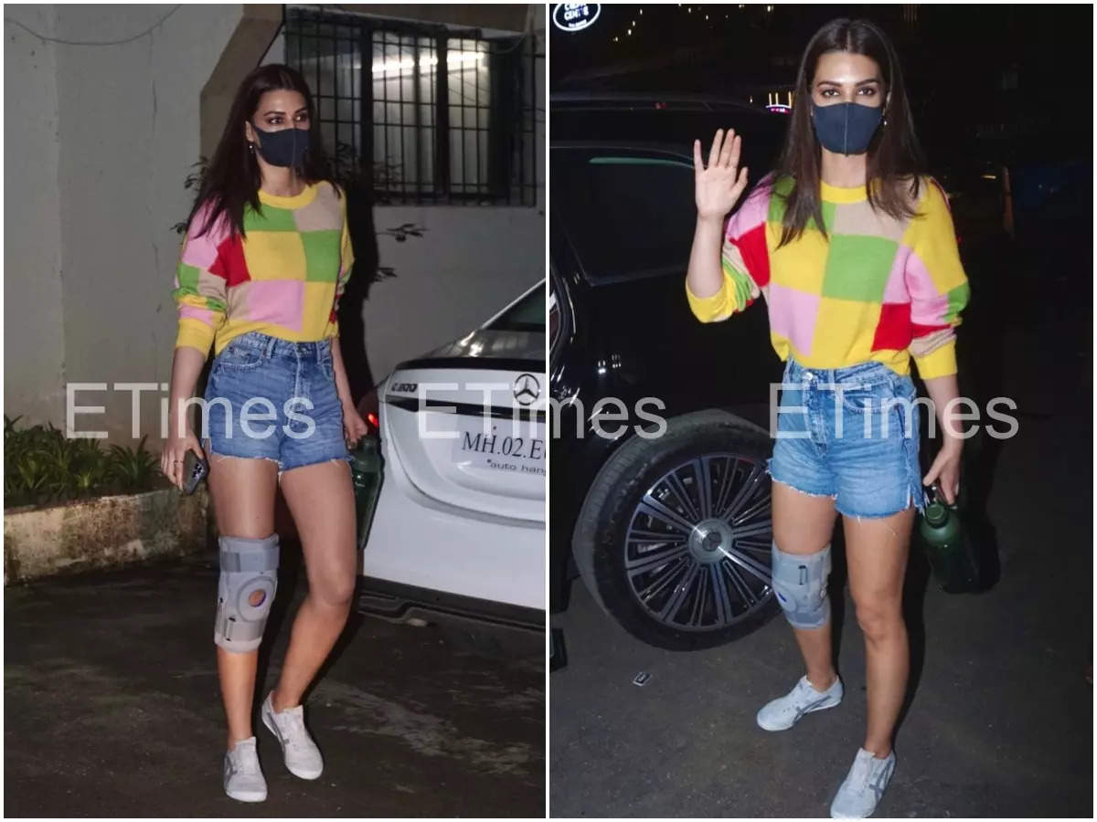 , Has Kriti injured her knee? Find out what's happened, The World Live Breaking News Coverage & Updates IN ENGLISH