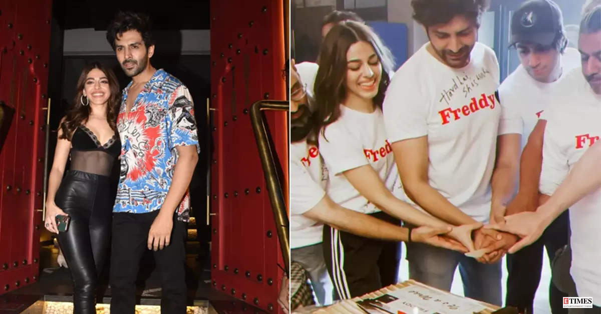 Kartik Aaryan and Alaya F make head turns with their style statements at wrap-up party of 'Freddy'