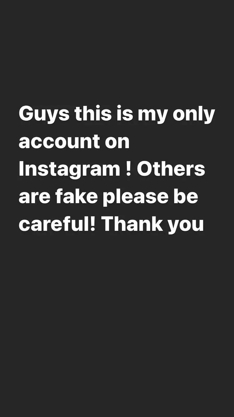 Riddhima warns fans about fake Insta account
