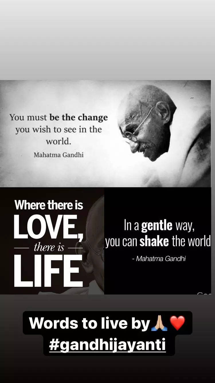 , Celebs pay tribute to Mahatma Gandhi, The World Live Breaking News Coverage & Updates IN ENGLISH