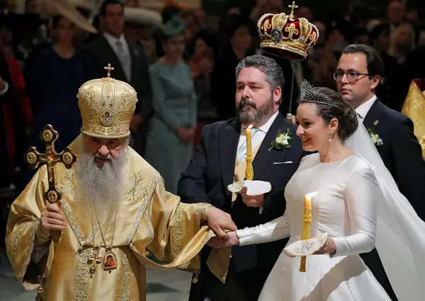 35 spectacular pictures from first royal wedding in Russia since revolution