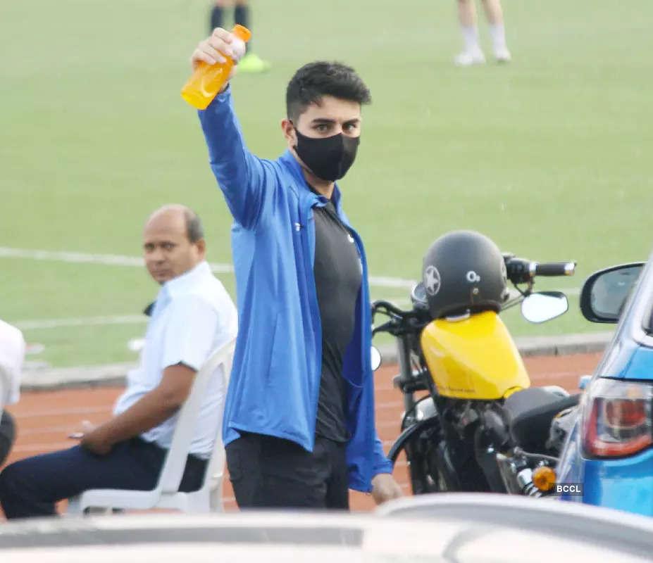 Ranbir Kapoor, Kartik Aaryan, Arjun Kapoor & other stars sweat it out on a football field