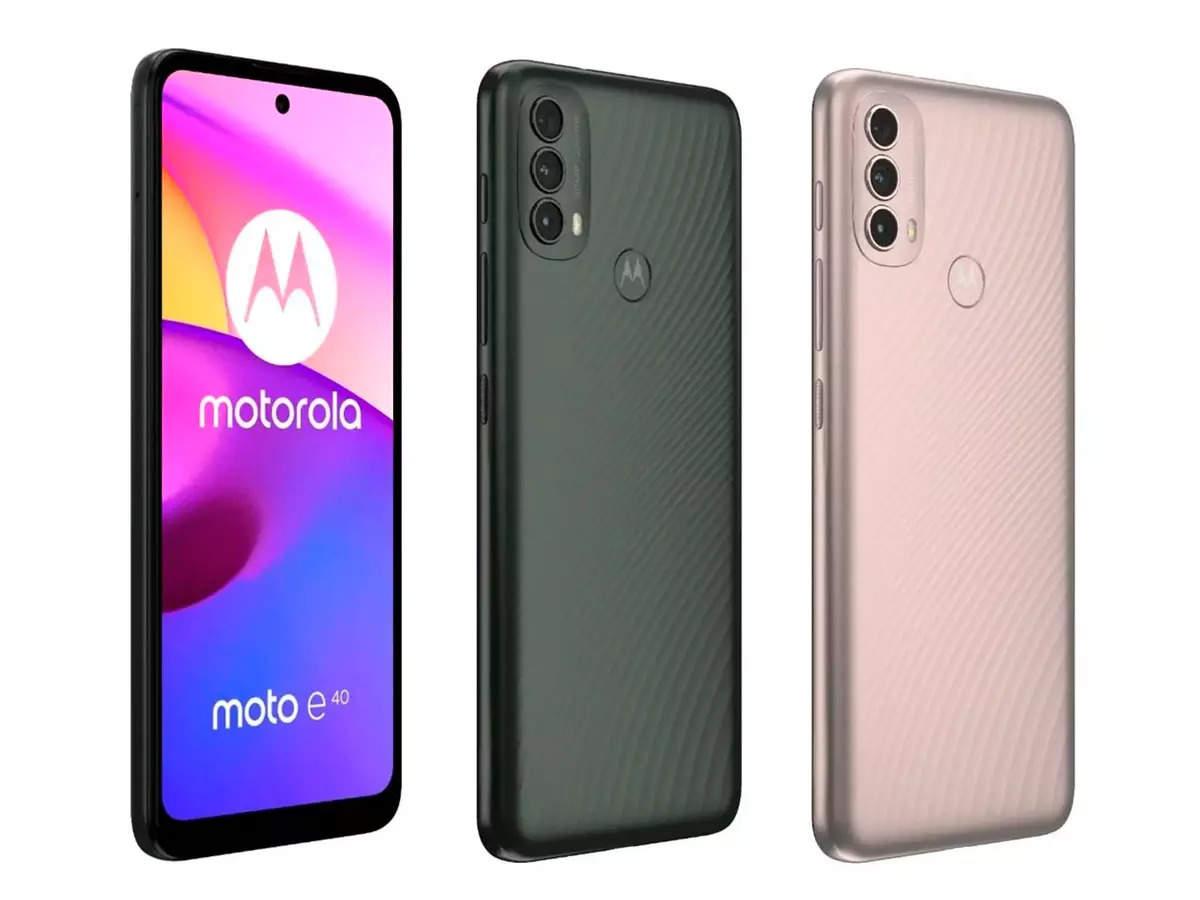 Motorola Moto E40 smartphone launched