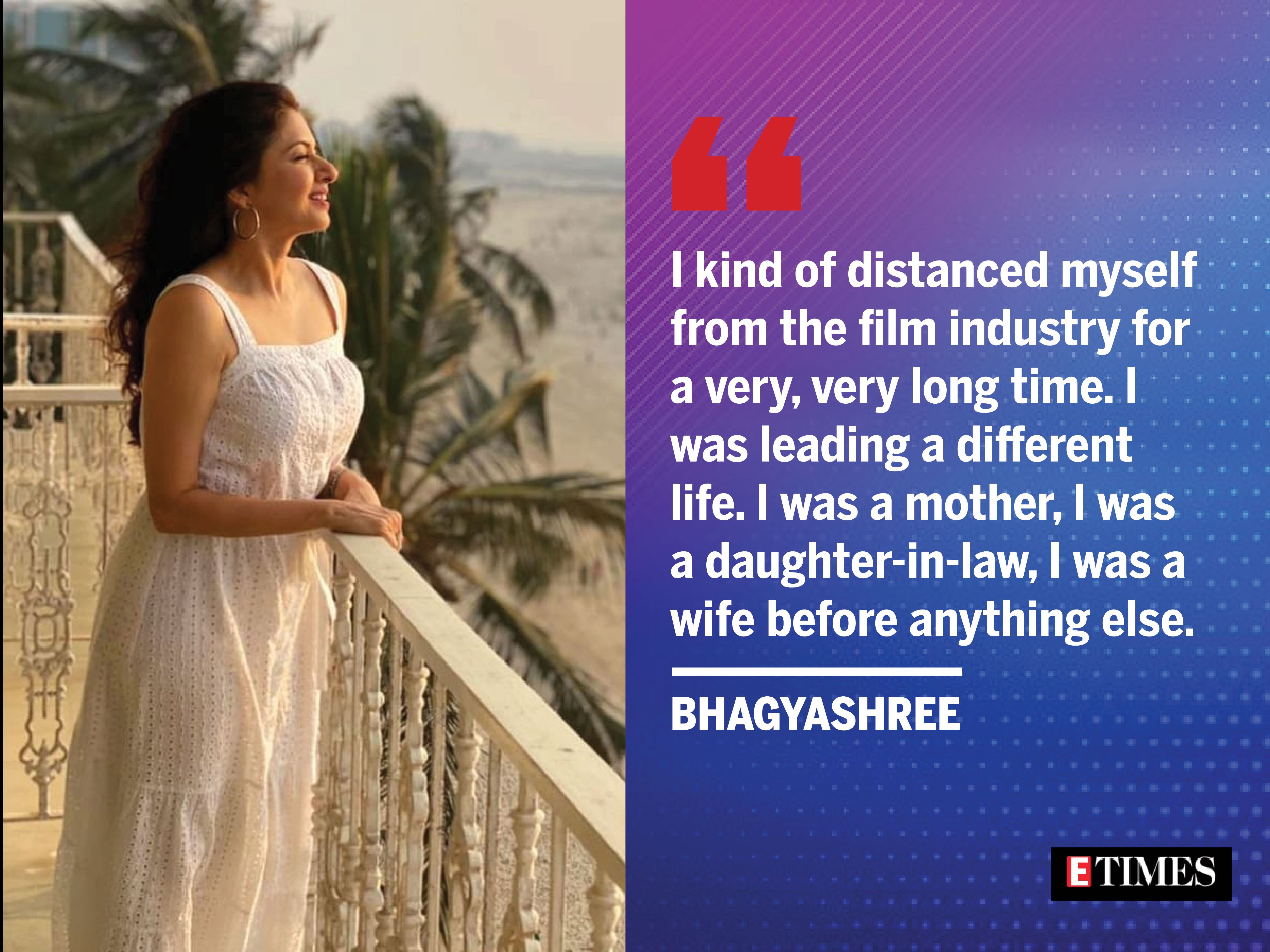 , #BigInterview! Bhagyashree: After MPK, every hit film was offered to me, The World Live Breaking News Coverage & Updates IN ENGLISH