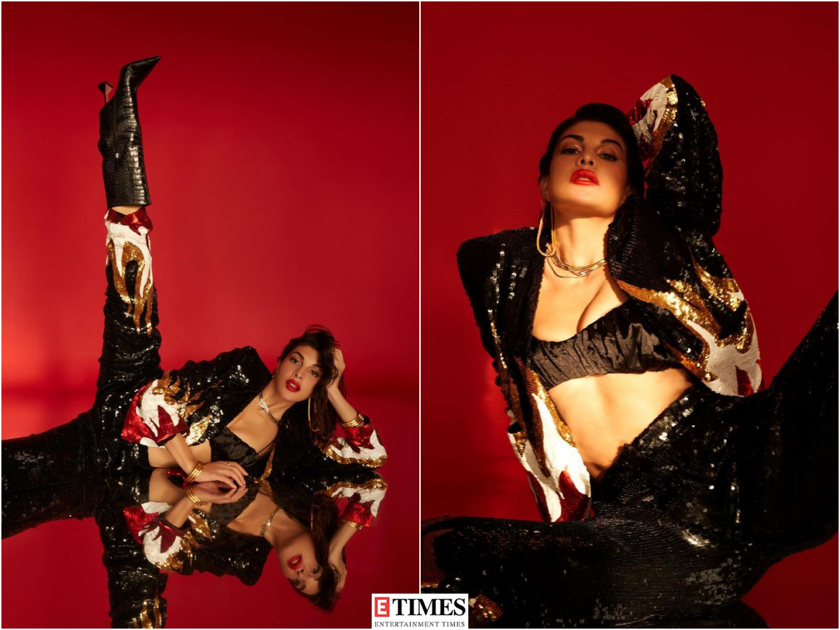 Jacqueline Fernandez flaunts her charm in a glittery co-ord set, pictures will make you go whoa!