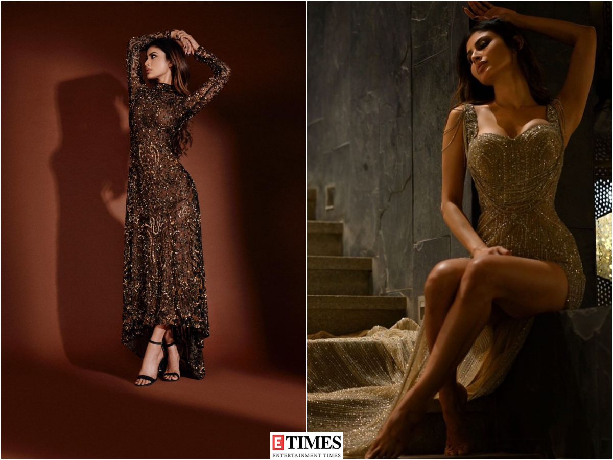 Mouni Roy's love for sequin trend is evident in these glamorous pictures